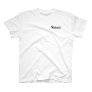 nikonikoロゴ(ブラック) T-shirts
