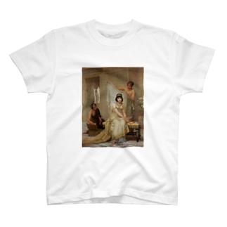 女子高生風 エドウィン・ロングの絵画Tシャツ(ショートボブ) T-shirts