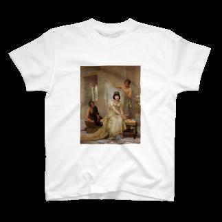 Onimous Tシャツショップの女子高生風 エドウィン・ロングの絵画Tシャツ(ショートボブ) T-shirts