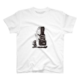 白黒道場-バンド(絵柄小) T-shirts