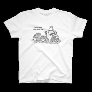 三色ひつじのちいさいねこCoffeeTime T-shirts