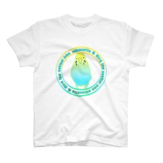 セキセイインコシルエット T-shirts