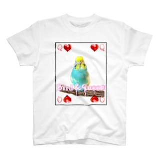 インコ丸@鳥セレブ本部のセキセイインコトランプ T-shirts