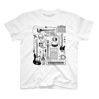 バンドミュージック!(淡色) T-shirts