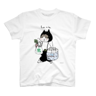 お買い物ねこ T-shirts