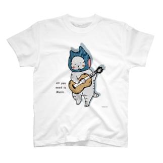 ギターねこ Tシャツ
