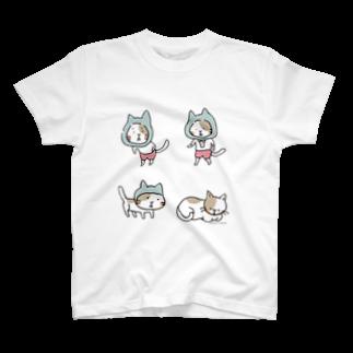 ほっかむねこ屋@ 3/9--3/16 吉祥寺駅のほっかむ進化論 Tシャツ