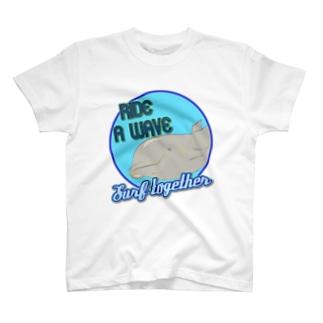 イルカ サーフ T-shirts