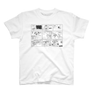 ケバブプレス#97(モノクロ/ライトカラー) T-shirts