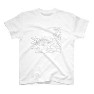 アザラシTシャツ(上陸するアザラシ ) T-shirts