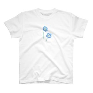 青い花。 T-shirts