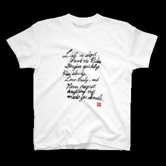 KUNI knitsのLife is.. T-shirts