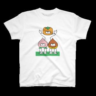 ねむまーるの桃栗三年柿八年 T-shirts