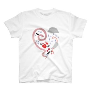 ハートのコーン T-shirts