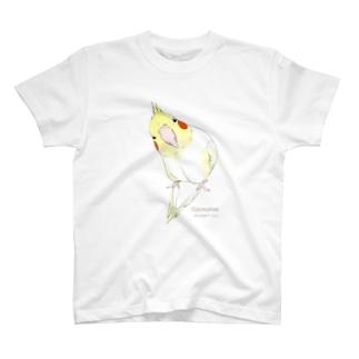 漫画「鳥・ストーリー」シリーズ オカメインコ T-shirts