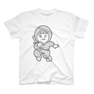 プラネットニッポンのにんじゃこTシャツモノクロ T-shirts