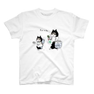 お買い物ねこ・トイレねこ T-shirts