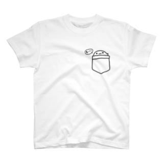 まっしろさんぽけっとチラ見 T-shirts