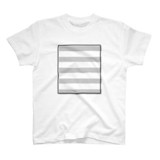 四角いプリント T-shirts