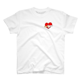 ハートの中から無限フランスパン T-shirts