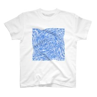 ぐるぐるブルーフィッシュ T-shirts