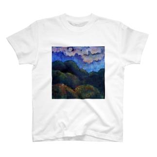 残月(ざんげつ) Moon T-shirts
