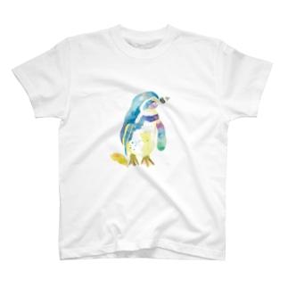 水彩ペンギン T-shirts