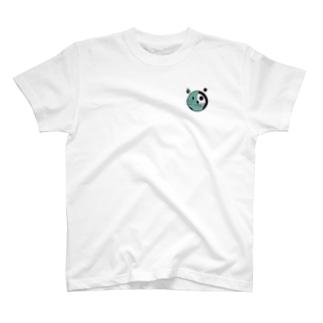 穴猫スケルトン T-shirts
