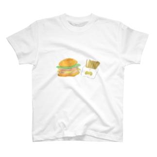 ましまろちゃんのハンバーガーセット T-shirts