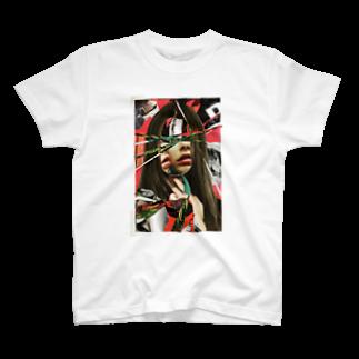 chisacollageの光線 T-shirts