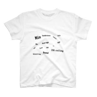 道端珈琲の関数の散らばり T-shirts