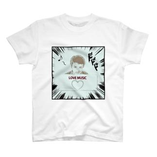 ダーク良太(LOVE MUSIC) T-shirts