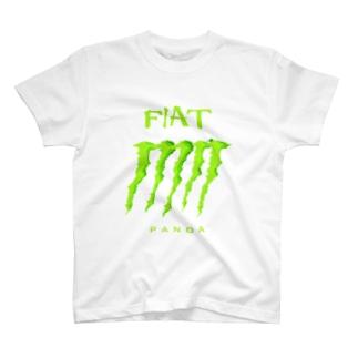 FIAT_PANDAグリル【Green】 T-shirts