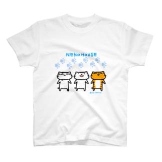 のびネコねこハウス T-shirts