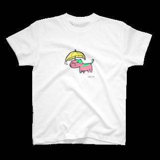 ウエスギノ館のneko kasa T-shirts