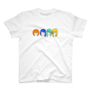 ねこぢた~カラフルver~ T-shirts