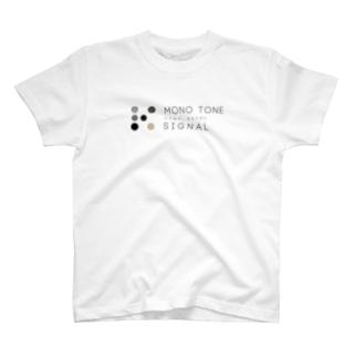 monotone signal(モノシグ) T-shirts