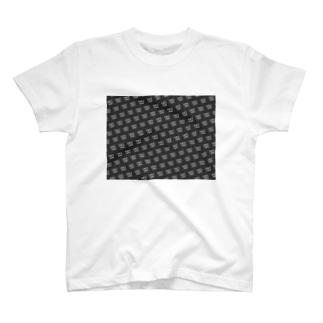 SINCE1980 pattern T-shirts