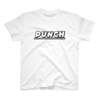 PUNCH ホワイト T-shirts