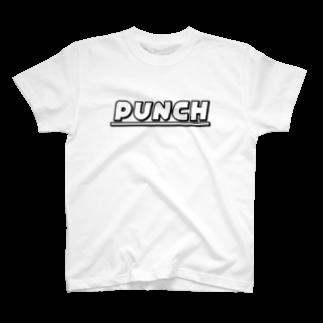 退化現象 硯出張所のPUNCH ホワイト T-shirts