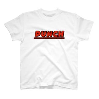 PUNCH レッド T-shirts