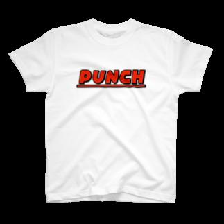 退化現象 硯出張所のPUNCH レッド T-shirts