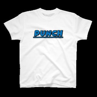 退化現象 硯出張所のPUNCH ブルー T-shirts