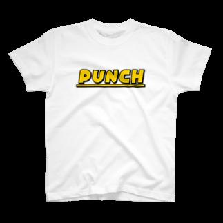 退化現象 硯出張所のPUNCH イエロー T-shirts