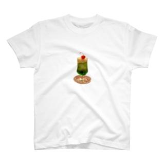 クリームソーダ (メロンソーダver) T-shirts