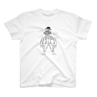 黒いハットの髭おじさん1 T-shirts