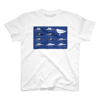 カモメの背中と初列 T-shirts