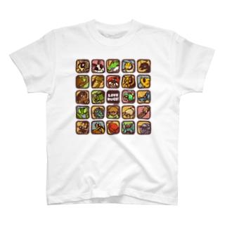 LOVE BUGS! むしアイコンTシャツ T-shirts