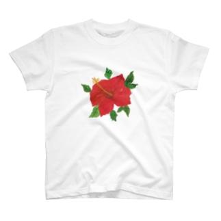 ハイビスカス(kiyo) T-shirts