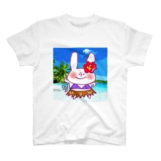 7月のうさぎ T-shirts